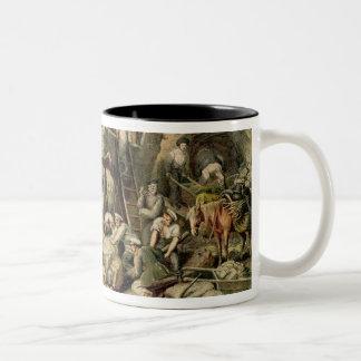 A Stone Quarry, 1833 (colour litho) Two-Tone Coffee Mug