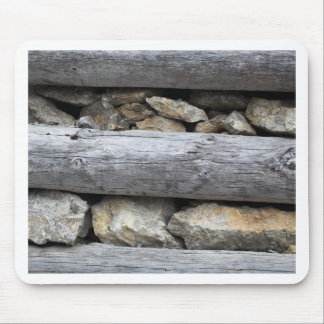 A stone wood construction mouse pad