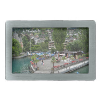 A stop on the shore of Lake Thun on a cruise Rectangular Belt Buckles