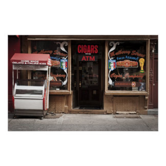 A storefront in Little Italy, NY Poster