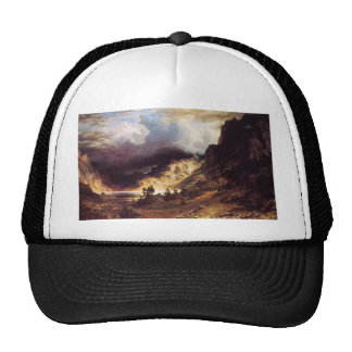 A storm in the Rock Mountains, Bierstadt Albert Hats
