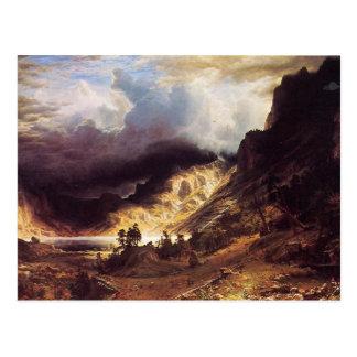 A storm in the Rock Mountains, Bierstadt Albert Postcard