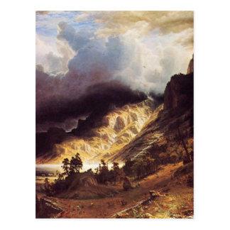A storm in the Rock Mountains, Bierstadt Albert Post Card