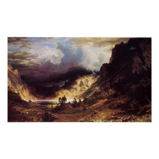 A storm in the Rock Mountains, Bierstadt Albert Poster