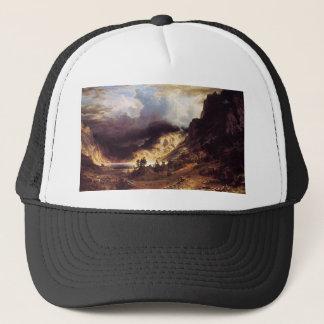 A storm in the Rock Mountains, Bierstadt Albert Trucker Hat