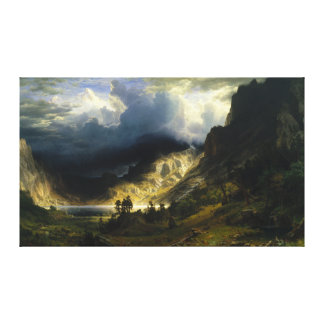 A Storm in the Rocky Mountains Bierstadt Canvas Print
