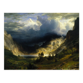 A Storm in the Rocky Mountains Bierstadt Postcard