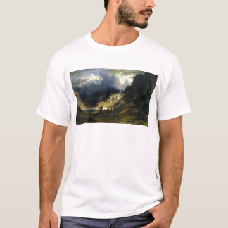 A Storm in the Rocky Mountains Bierstadt T-Shirt
