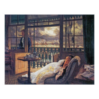 A storm moves over by James Tissot Posters
