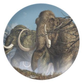 A Storm Of Mammoths Melamine Plate