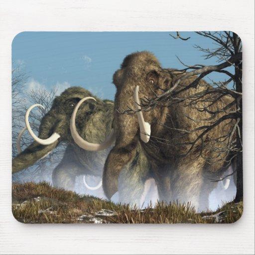 A Storm Of Mammoths Mousepads