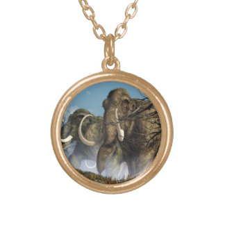 A Storm Of Mammoths Personalized Necklace