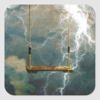 A STORM RAVAGING OUR CHILDREN.jpg Square Sticker