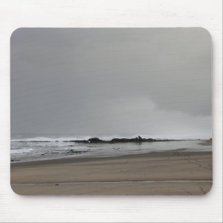 A Stormy Day at the Beach Mouse Pad