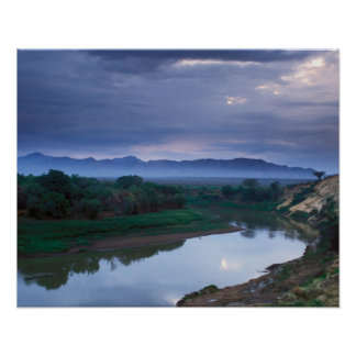 A stormy morning, with threatening clouds poster