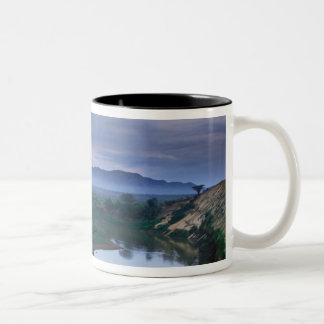 A stormy morning, with threatening clouds Two-Tone coffee mug