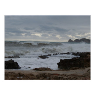 A Stormy Sea Photograph Poster