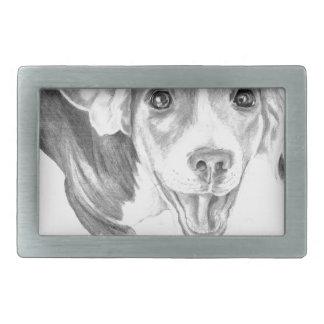 A Story To Tell, A Beagle Puppy Rectangular Belt Buckle