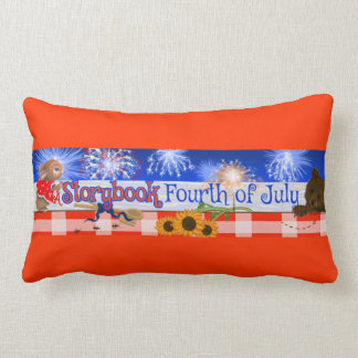 """""""A Storybook Fourth of July"""" Lumbar Pillow"""