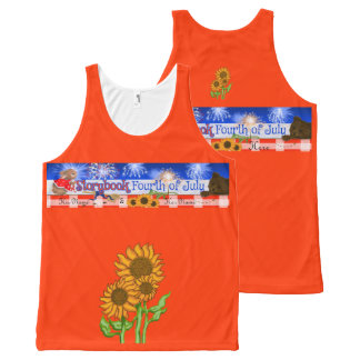 """""""A Storybook Fourth of July"""" Unisex Tank All-Over Print Tank Top"""