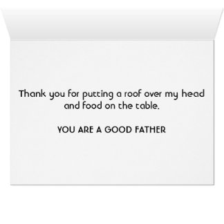 A straight forward Father's Day Card