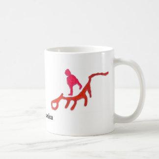 A strange being classic white coffee mug