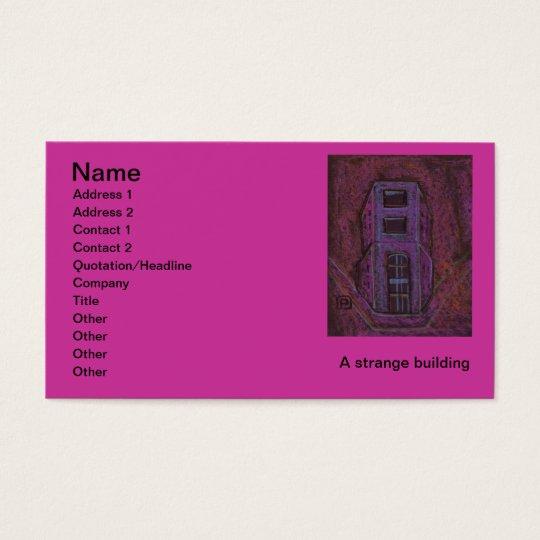 A strange building, Name, Address 1, Address 2,... Business Card