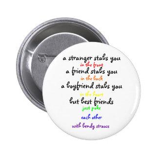 a stranger 2 inch round button