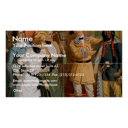 A Stranger in A Strange Life Business Card Template