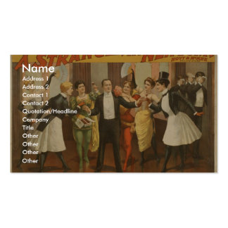 A Stranger in New York Vintage Theater Double-Sided Standard Business Cards (Pack Of 100)