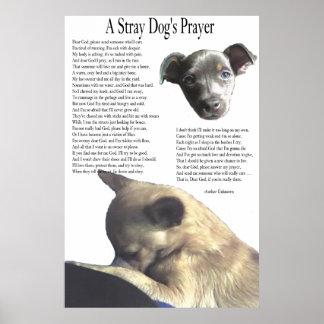 A Stray Dog's Prayer (alternate background color) Poster