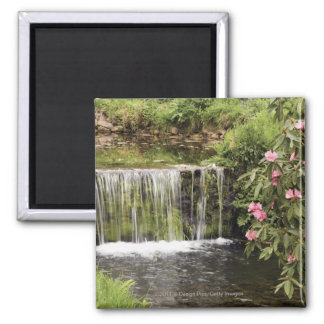 A Stream And Waterfall In Dartmoor National Park 2 Inch Square Magnet