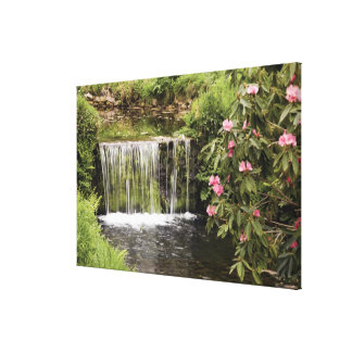 A Stream And Waterfall In Dartmoor National Park Canvas Print