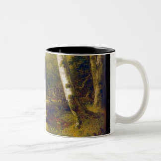 A Stream in the Woods - Durand Two-Tone Coffee Mug