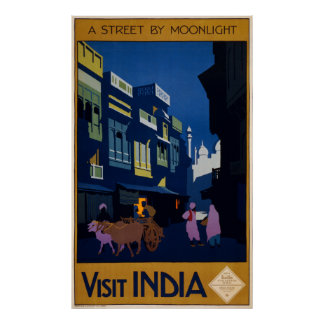 A Street by Moonlight Poster