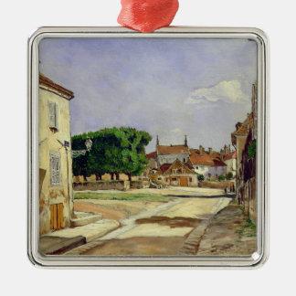 A Street in Avallon Metal Ornament