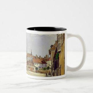 A Street in Avallon Two-Tone Coffee Mug