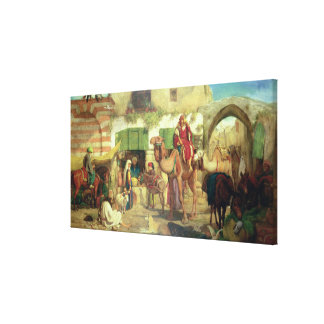 A Street in Jerusalem, 1867 Canvas Print