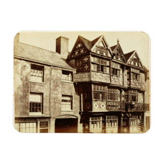 A Street in Ludlow (b/w photo) Rectangular Magnets