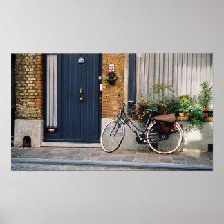 A street in quaint Bruges, Belgium Poster