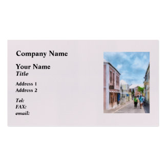 A Street in St. George's Bermuda Business Cards