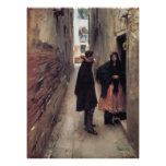 A Street in Venice, by John Singer Sargent Posters