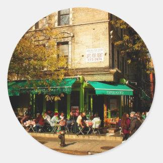 A Street Scene in Alphabet City, East Village, NY Classic Round Sticker