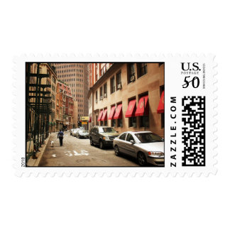A Street Scene in the Financial District Postage