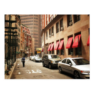 A Street Scene in the Financial District Postcard