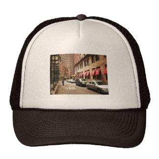 A Street Scene in the Financial District Trucker Hat