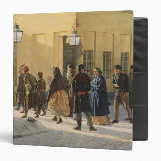 A street scene, outside a prison, 1868 binder