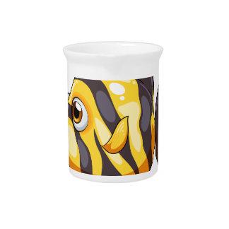 A stripe-colored fish beverage pitchers