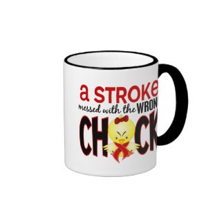 A Stroke Messed With The Wrong Chick Ringer Coffee Mug