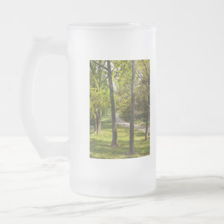 A Stroll In The Park Frosted Glass Beer Mug